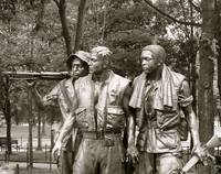 Three Soldiers at the Vietnam Veterans Memorial