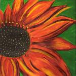 """Orange Sunflower"" by ConnieCapone"