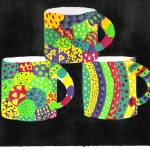 """Whimsical cups"" by ConnieCapone"