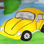 """Yellow VW Bug"" by ConnieCapone"