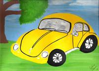 Yellow VW Bug