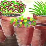 """clay pots 001"" by ConnieCapone"