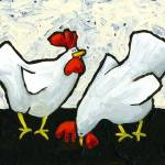 """Two Roosters"" by JanetNelson"