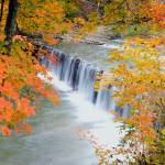 """Autumn at Anderson Falls - Panorama"" by mindseyecreative"