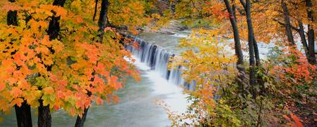 Autumn at Anderson Falls - Panorama