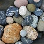 """Colorful Rock Formations Along Rocky Beach"" by mindseyecreative"
