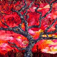 Fire in the Sky Art Prints & Posters by Susan Minier