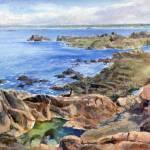 """Rockpools Corbiere Jersey Channel Islands"" by KevinC"