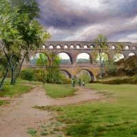 Ponte du Garde Roman Aquaduct Provence Art Prints & Posters by Kevin Clarkson