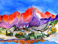 Maroon Bells in Red Sold Original
