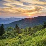 """""""Cowee Mountains Sunset"""" by DAPhoto"""