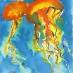 """""""Orange Aurelia Vibrance"""" by LaurenMaurerStudio"""