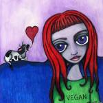 """Vegan Girl"" by DarkFaerieCreations"