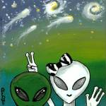 """The Visitors:  Bob & Jane Leave Pluto"" by karmabox"