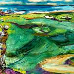 """""""Golfing by the Sea Oil Painting by Ginette"""" by GinetteCallaway"""