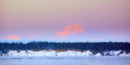 Alaska Mount McKinley - 150 Miles Away, February 0