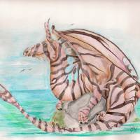 Lionfish Dragon Art Prints & Posters by Nico Hernandez