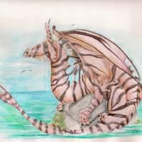 Lionfish Dragon Art Prints & Posters by Nico Hernandez