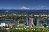 0195 Portland Oregon with Mount Hood in the backgr