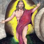 """Risen Christ"" by woodmaster"