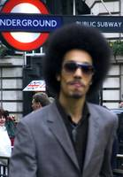 afro man in London