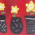 """whimsical black vases"" by friddleart"
