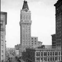 """Tribune Tower, 13th Street, Oakland, c1925"" by worldwidearchive"