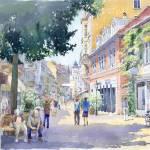 """Germany Baden-Baden Lange Strasse"" by shevchukart"