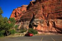 Red Rock and Red Car