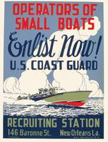 Operators of Small Boats Enlist Now Poster (1943)