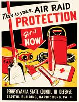 Pennsylvania Air Raid Protection Poster (1943)