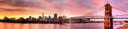 Cincinnati Sunset Panorama