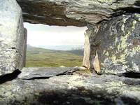 View through a Cairn - Hardangervidden Norway