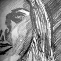 Face black and white Art Prints & Posters by hagit ben yakar shechter