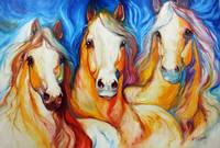 SPIRITS THREE EQUINE ART by MARCIA BALDWIN