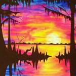 """Medium Size Swamp Sunset"" by neworleansartist"