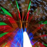 """Farris Wheel Carnival Abstract"" by lightningman"