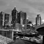 """""""Atlanta Black and White"""" by yoakumcityscapes"""