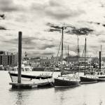 """Boats moored in Wells Harbour"" by oleymoley"