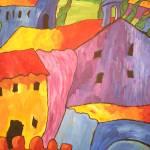 """""""Village Days"""" by HolmansKrugArt"""