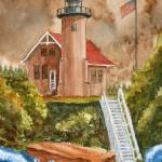 """Sand Island Light Out by LAMeyer"" by LAMeyer"