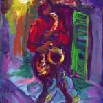 """Red Hot Saxophone"" by sandrabolensamuel"