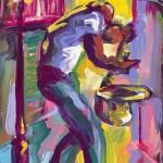 """Saxophone in the Streets"" by sandrabolensamuel"