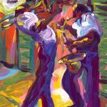 """Trombone and Saxophone"" by sandrabolensamuel"