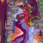 """Trumpet and Sax in New Orleans"" by sandrabolensamuel"