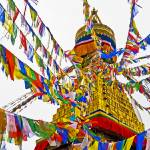 """The prayer flags of Boudhanath Stupa"" by ChristopherByrd"