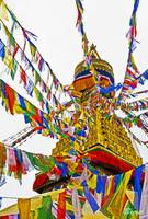 The prayer flags of Boudhanath Stupa