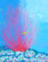 Red Whip with Yellow Boxfish