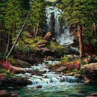 Cartwheel Falls Art Prints & Posters by w scott fenton