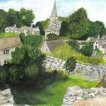 """""""Bisley Cotswold landscapes"""" by Rachelpeglerartworks"""